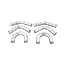 "Universal aluminum pipe Piping Kit 2.5"" 6 pcs Exhaust 45 90 U Pipe"
