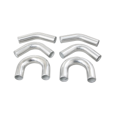 "Universal aluminum pipe Piping Kit 3"" 6 pcs Exhaust 45 90 U Pipe"