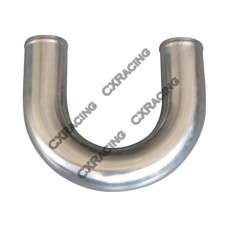 "2.25"" U-Bend Aluminum Pipe, Mandrel Bent Polished, 2.0mm Thick Tube, 18"" Length"