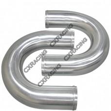 "2pcs 2.5"" Inch OD 180 Degree U-Bend Universal Aluminum Intercooler Intake Pipe"