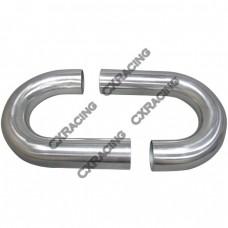 "2pcs 3"" Inch OD 180 Degree J-Bend Universal Aluminum Intercooler Intake Pipe"