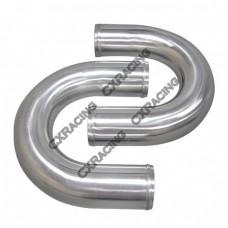 "2pcs 3"" Inch OD 180 Degree U-Bend Universal Aluminum Intercooler Intake Pipe"