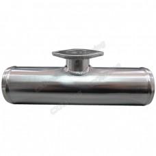 "Polished 3"" Aluminum Blow Off Valve BOV Adaptor Flange Pipe Tube"
