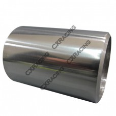 "1.9"" O.D. Extruded 304 Stainless Steel Straight Pipe, 3"" Long, Polished Finishing"