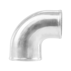 """Polished Cast Aluminum 90 Degree 3.5""""-3"""" O.D. Reducer Elbow Pipe"""