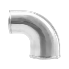 """Polished Cast Aluminum 90 Degree 4""""-3"""" O.D. Reducer Elbow Pipe"""