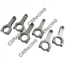 H-Beam Connecting Rods and bolts For NISSAN RB25DE/26DETT 89-02 GTR/Skyline/Stagea/260RS