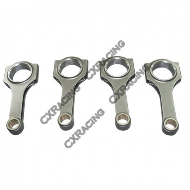 """4340 Steel H Beam Rod Rods 4 pcs For Toyota Corolla MR2 4AGE Engine 4.803"""" Length"""