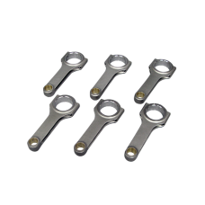 H-Beam Connecting Rod 6 Pcs For 94-00 BMW E36 E39 E46 M52 M54 2.5 2.7 3.0