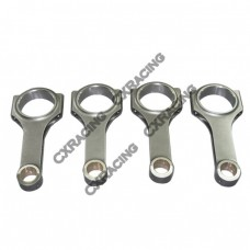 "H-Beam Connecting Rod 4 pcs For 90-05 Subaru Impreza/Legacy/WRX EJ20 EJ25 5.138"" Lenght"
