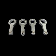 """H Beam Rod Rods 4 pcs For Nissan 180SX 200SX 240SX S13 S14 S15 SR20 SR20DET Engine, 5.366"""" Length"""