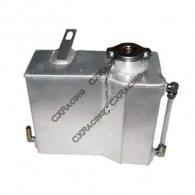 Aluminum Coolant Overflow Fill Tank For 86-92 Toyota Supra 7MGTE MKIII MK III