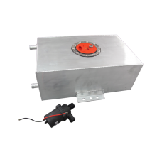 4 Gallon Polished Aluminum Ice Box Tank + Water Pump