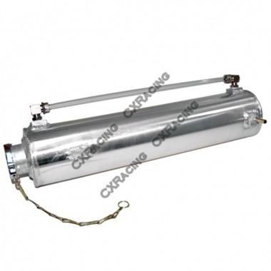 Aluminum Coolant Overflow Fill Tank for 87-93 Mustang