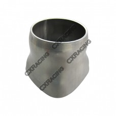 """16 Gauge Stainless Steel 4 (total 3.5"""") To 2.5"""" Round Tubing Merge Collector"""