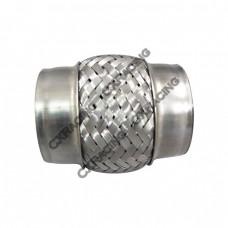 "2.5"" X 4"" Stainless Steel Exhaust Muffler Flex Pipe"