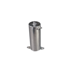 "Aluminum Fuel Surge Tank 4"" Diameter x 10.5"" H Works For Many Applications"