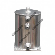 "Aluminum Fuel Surge Tank 5"" Round x7"" H Works For Many Applications"