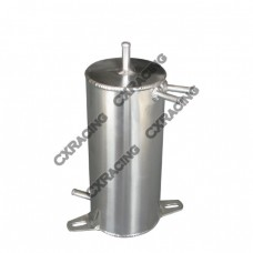 "Aluminum Fuel Surge Tank 4"" Round x9"" H Works For Many Applications"