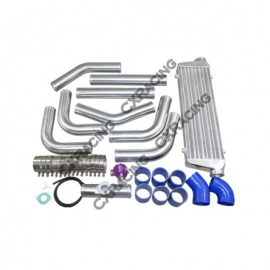 "DIY BLUE Couplers 2.5"" INTERCOOLER PIPING KIT + 28""x7""x2.5"" INTERCOOLER"