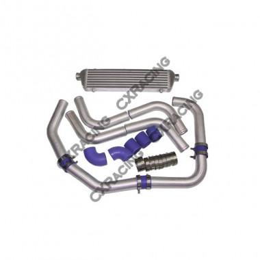 """Universal 28x5.5x2.5 Turbo Intercooler + 2"""" Piping Kit For MIATA RX-7 RX-8"""