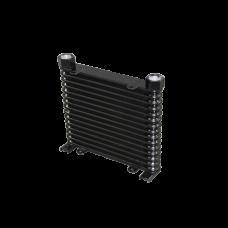 "Aluminum Oil Cooler 15 Rows, NPT 3/4"" Fitting Hi Performance"