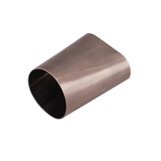 """3.5"""" Round Oval 304 Stainless Steel Adapter Coverter Pipe 16 Gauge"""