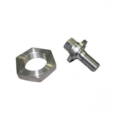 Titanium Front Pulley Bolt + Flywheel Nut Combo For 72-85 early model Rotary engine