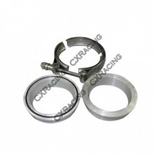 "2.5"" Turbo V-Band Clamp x1 , Downpipe Flange Aluminum x2"