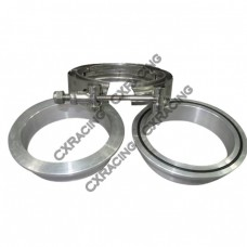 "3"" Turbo V-Band Clamp x1 , Downpipe Flange Aluminum x2"
