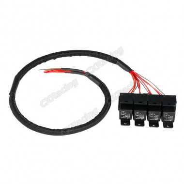 4x 30A 12V DC Relay Wire Harness 3ft Long for ECU Fuel Lights