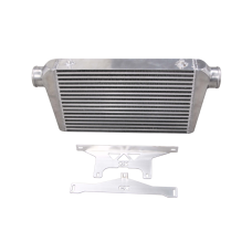 "Intercooler + Mounting Bracket for 75-78 Nissan 280Z Fairlady Z 2.5"" Inlet Outlet"