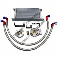 External Oil Cooler Line Sandwiches Kit for 14 15 Subaru WRX 2.0L FA20DIT Turbo