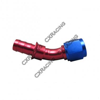 12AN AN-12 45 Degree Aluminum Hose End Fitting Push On Lock Oil Adapter AN12