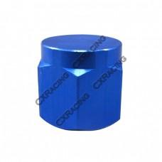 Anodized Aluminum Flare Oil Fitting AN 12 Cap Block Off AN12 12AN Blue