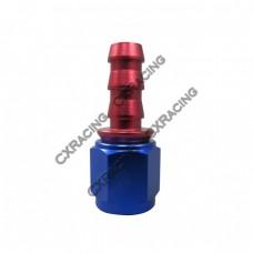 AN6 AN-6 6 AN Straight Push On Lock Socketless Fitting
