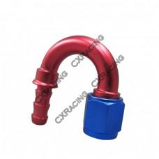 AN6 -6AN 6AN 180 Degree Push On Loc Lock Socketless Fitting Hose End Adaptor