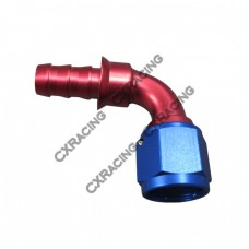 AN6 AN 6 90 DEGREE SWIVEL OIL/FUEL/GAS LINE HOSE END PUSH-ON MALE FITTING