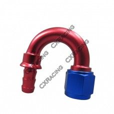 AN8 -8AN 8AN 180 Degree Push On Loc Lock Socketless Fitting Hose End Adaptor