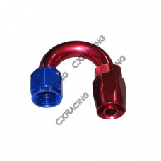 AN 10 10AN AN10 180 Degree Reusable Hose End Anodized Aluminum Oil Fitting