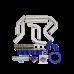"2.25"" Universal Alum Intercooler Pipe Piping Kit + BOV Turbo Blow Off Valve Kit"