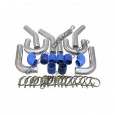 """2.75"""" O.D. Aluminum 8PCS Turbo Intercooler U-Piping Kit"""