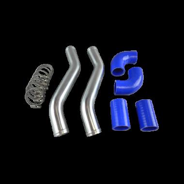 """1.5"""" Aluminum Radiator Hard Pipe Kit for 1991-2000 Lexus SC300 2JZ-GTE Swap"""