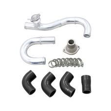 Radiator Aluminum Hard Pipe Kit For 84-91 BMW 3-Series E30 LS1 Engine
