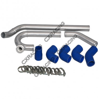 "1.5"" Aluminum Radiator Hard Pipe Kit For 2JZ-GTE Subaru BRZ/ Scion FRS 2JZGTE"