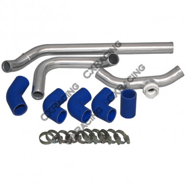 "1.5"" Aluminum Radiator Hard Pipe Kit For LS1 Subaru BRZ Scion FRS Swap LSx"
