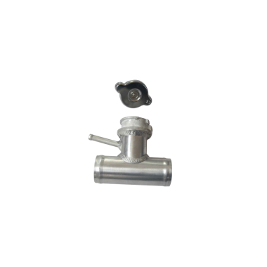 """Aluminum 1.5"""" Aluminum Radiator T Pipe with Filler Cap"""