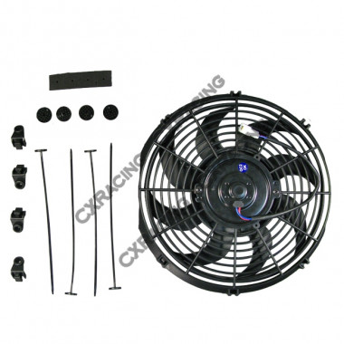 "12"" High Performance Slim Radiator Fan 2.5"" Thickness"