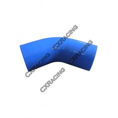 "1.5"" 45 Degree Turbo Intercooler Blue Silicon Hose Coupler 2.5"" Long"