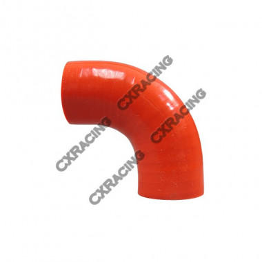 """1.5"""" 90 Deg Red Silicon Hose Coupler For Turbo Intercooler Pipe"""
